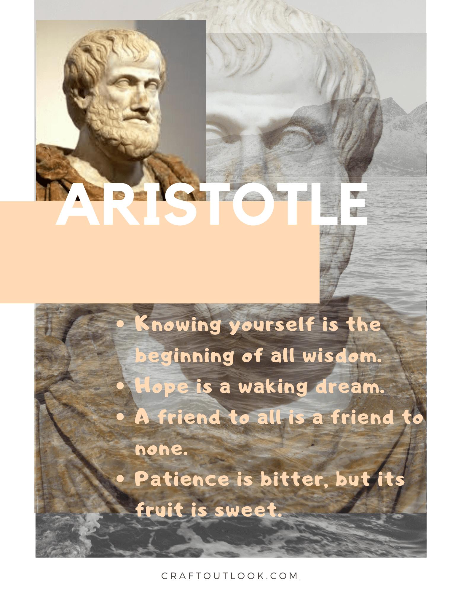 Aristotle - craftoutlook.com