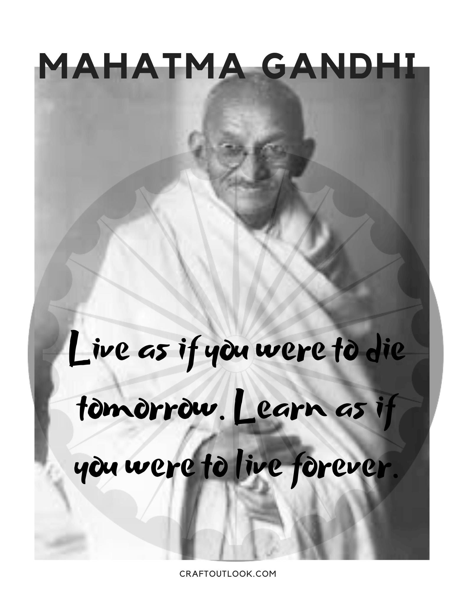 Mahatma Gandhi - craftoutlook.com